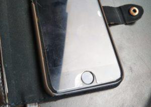 携帯画面の汚れ